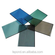 4~19mm Tinted glass (yellow ,bronze, grey, green, blue) for Building office