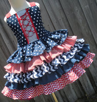 baby girls 4th of july patriotic dress 2015 new fashion cinderella dress wholesale toddler child girls clothes