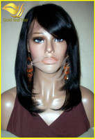 2014new arrival hot sale 6a grade full lace wigs with bangs 12-26 free shipping