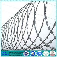2.5 mm high tensile fencing razor blade wire