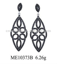 2012 The fashion 925 silver micro pave setting Royal earring