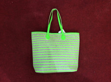 Colourful Stripe Beach Bag-JX930