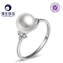 freshwater pearl wedding silver ring jewellery