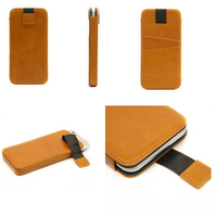 For iphone 6 4.7inch new products 2016 tan genuine leather case