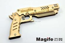 manufacture soft bullet gun toys for kids wood rubber band gun
