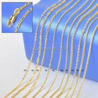 Wholesale 18k gold filled necklace chain
