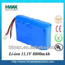News Rechargeable Battery Pack Li-ion 11.1V 18650 2000-9800mAh