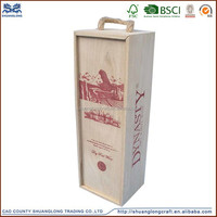 china supplier factory price wood wine carrier new product for 2015