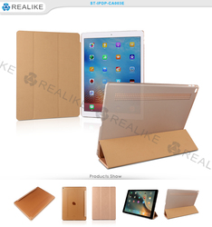 For apple ipad pro magnetic three fold smart case cover