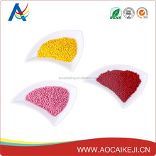 Pearlized orange yellow pink red masterbatch to customers' request on plastic cup/pipe/cover