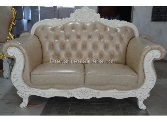 Marco de madera dorada púrpura tapizado sofá 1   2   3 barato ...