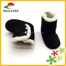 Warm Wholesale Top selling Soft Sole Slip-on Heat Extraction Black Girl Baby durable winter boots shoes