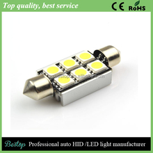 42mm 5050 6-smd 12V Festoon Dome Light LED Bulbs