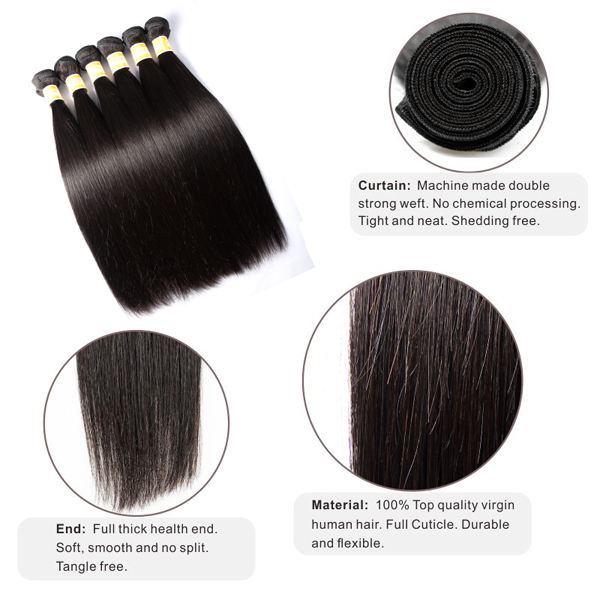 JP Hair Best Selling Full Cuticle Hair Weaving 5A Human Virgin Peruvian Hair