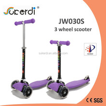 2015 new three wheel mini micro maxi foot push manual folding rock board scooter