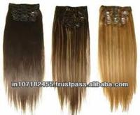 Human Hair 3pcs Clip Extension