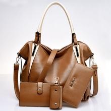 New Fashion Ladies Handbag Tote Purse Shoulder Bag Messenger Hobo Bag 4 in 1 style