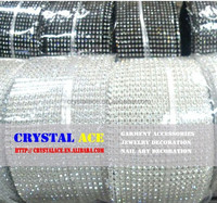 Sew on crystal rhinestone banding/trims sew on for apparel