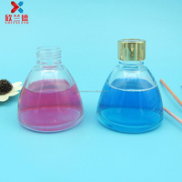 100ml funnel shape refillable aroma reed diffuser glass bottle with screw cap