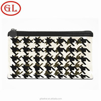 Recyclable Clear PVC Zipper Cosmetic Bag Houndstooth bag From Original Manufacturer