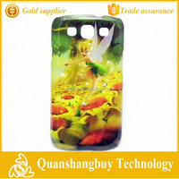 Good deal good quality wholesale green fairy princess hard skin shell for Samsung Galaxy S3 i9300 mobile phone case