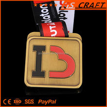 zinc alloy/copper/iron/bronze custom made medals/sport award metal medal with plating