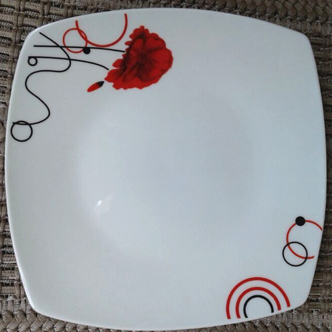 Red Square Dinner Plates,Make Your Own Dinner Plates,White Square ...