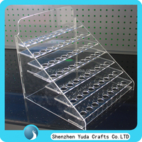 Free shippiing wholesale custom e-liquid stand with many tiers, lucite plexi display rack for e-juice