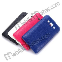 2015 Cheapest Lichee Pattern Leather Coated PC Back Cover Case for LG L60 X145 / Dual X147
