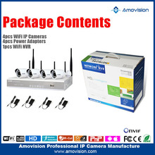 NEW Product !!! wifi 2p2 wireless ip camera kit 4CH NVR wireless wifi CCTV system