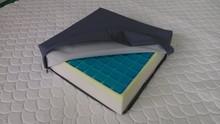 Cooling car seat cushion with gel pad/memory foam leather sofa cushion/car seat cushions