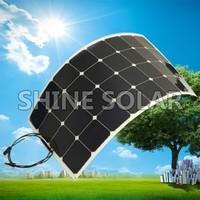 monocrystalline silicon sunpower flexible solar panel 100w 150w 200w 250w 300w 18v 36v with CE certification factory direct
