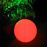 rotomolded plastic housing LED glowing globe /rgb led full color rotating