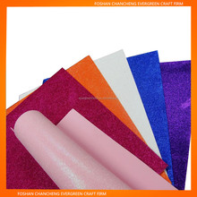 Pink Color Glitter Light Color EVA Foam Sheet with Adhesive