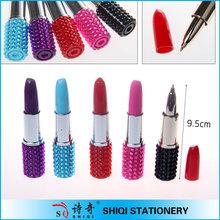 lady cosmetics promotional gift lipstick shape ball pen