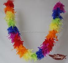 "80g 72"" Fashionable Rainbow Feather Boa"
