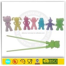 new design kitchen tools children love's animal silicone chopsticks