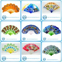 2015 custom 7-stem plastic hand fans sticks