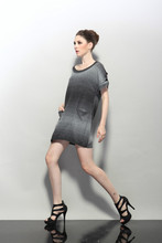 2015 Women Short Sleeve Pullover Pocket Wool Acrylic Sweater