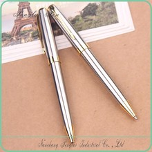 Silver pen gold metal ball pen luxury gift pen