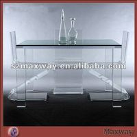Elegant and modern acrylic dining table and chair