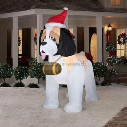 replica Christmas decorationm, inflatable replica for promotion, cute dog