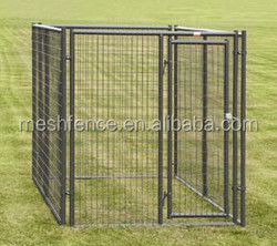 Black metal powder-coated dog cages easy to clean dog cages high quality guaranteed dog cages