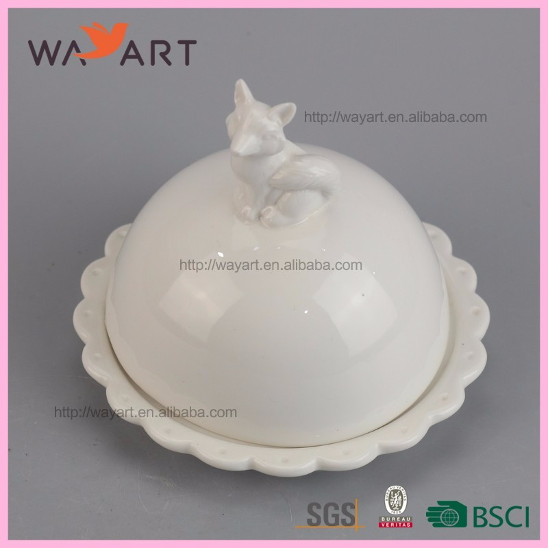 Populaire Blanc Renard Pâtisserie Plat En Céramique En Gros Mélamine Plaques