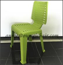 Barato silla de plástico / sin brazos silla / silla verde