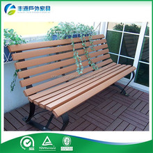 Classic Wooden and Cast Iron Folding Bench Park Bench Garden Chair