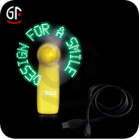 Hot Sale Pre-Programmed Unique Promotion Gift Novelty Led Flashing Hand Fan