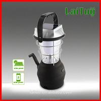 1.8W multi-function high quality LED solar hand cranking dynamo lantern