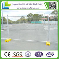 2.1x2.4m construction site using cheap temporary welded fence for market