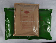 No artifical colors, no preservative military MRE, Meal ready to eat
